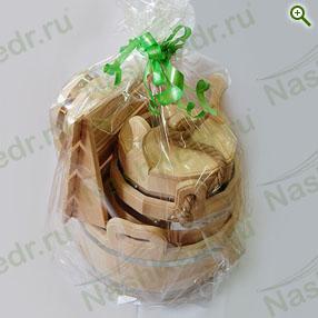 Подарочные наборы для бани и сауны - «Сибирский банный из кедра «Богатый» - купить по цене производителя - магазин Наш Кедр
