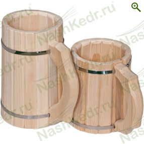 Посуда деревянная - Кружка пивная деревянная из кедра - купить по цене производителя - магазин Наш Кедр