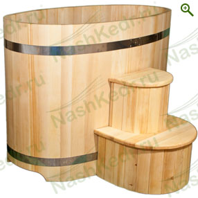 Купели деревянные - Купели овальные из кедра - купить по цене производителя - магазин Наш Кедр