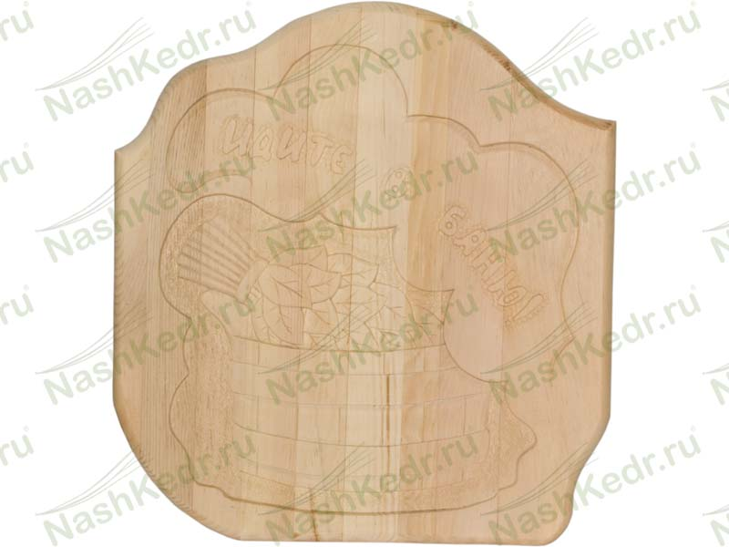 Вешалка панно для бани и сауны