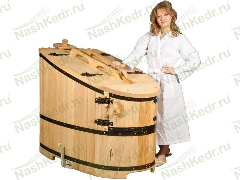Фитобочка из кедра – оригинальная альтернатива привычной бане