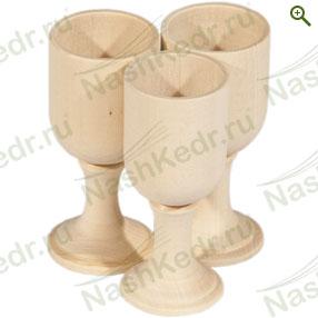 Посуда из липы - Рюмки липовые - купить по цене производителя - магазин Наш Кедр